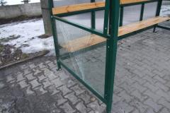 Zdewastowano wiatę przystankową na ulicy Kościuszki, 2010