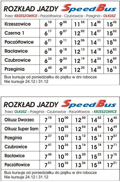 krzeszowice-olkusz-speedbus