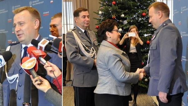 Podkomisarz Michał Godyń odznaczony za uratowanie 2-letniego Adasia