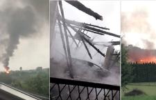 Od uderzenia pioruna spłonęła stodoła