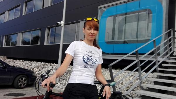 Mieszkanka gminy bierze udział w rowerowej sztafecie dookoła świata